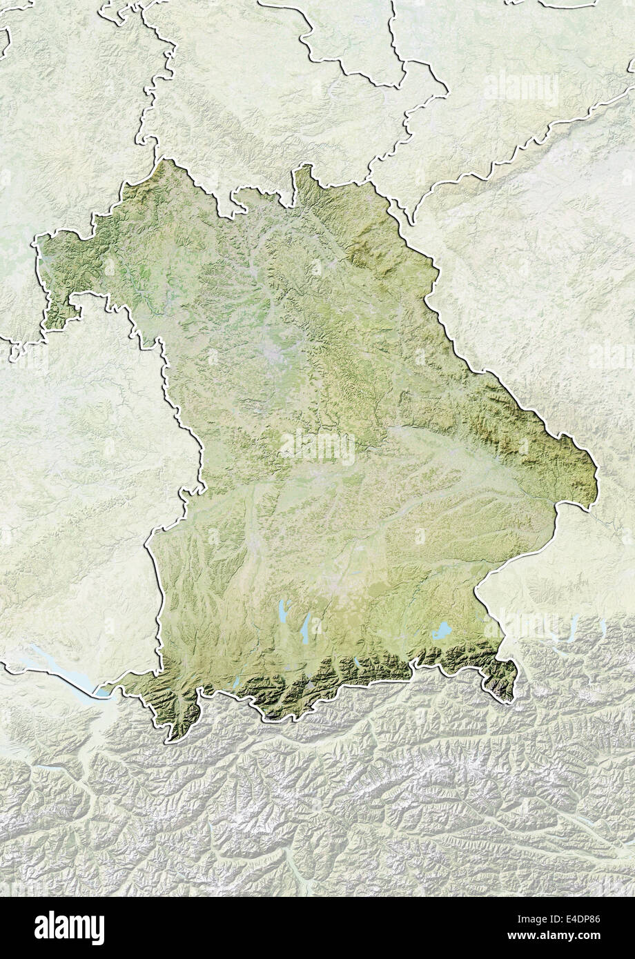 State of bavaria germany relief map stock photo royalty free state of bavaria germany relief map sciox Image collections