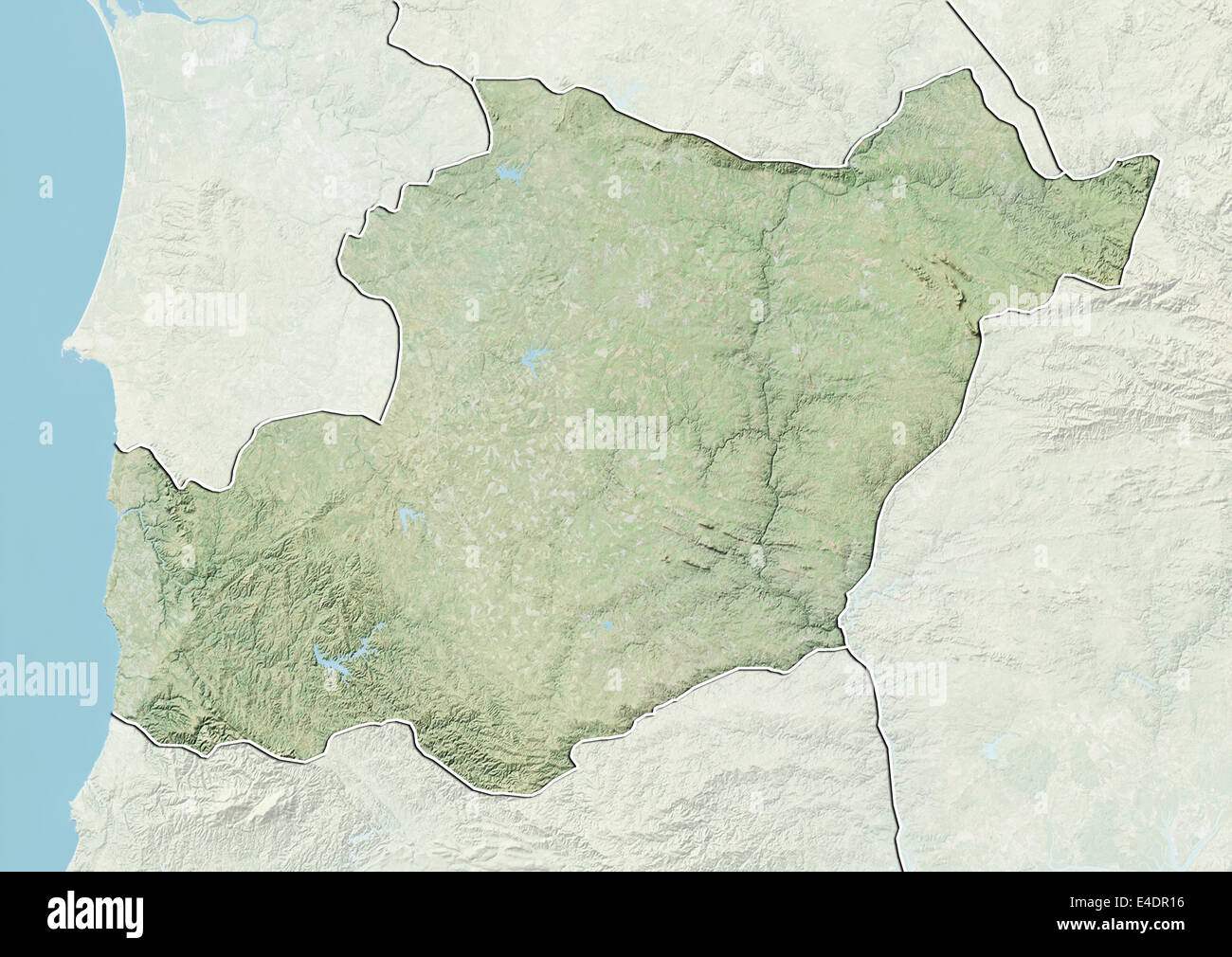 District Of Beja Portugal Relief Map Stock Photo Royalty Free - Portugal beja map