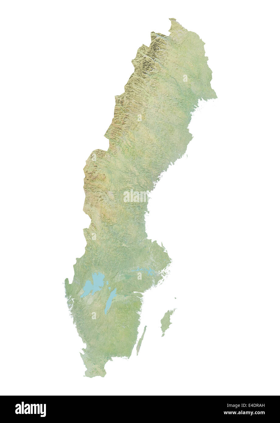 Sweden Relief Map Stock Photo Royalty Free Image Alamy - Sweden relief map