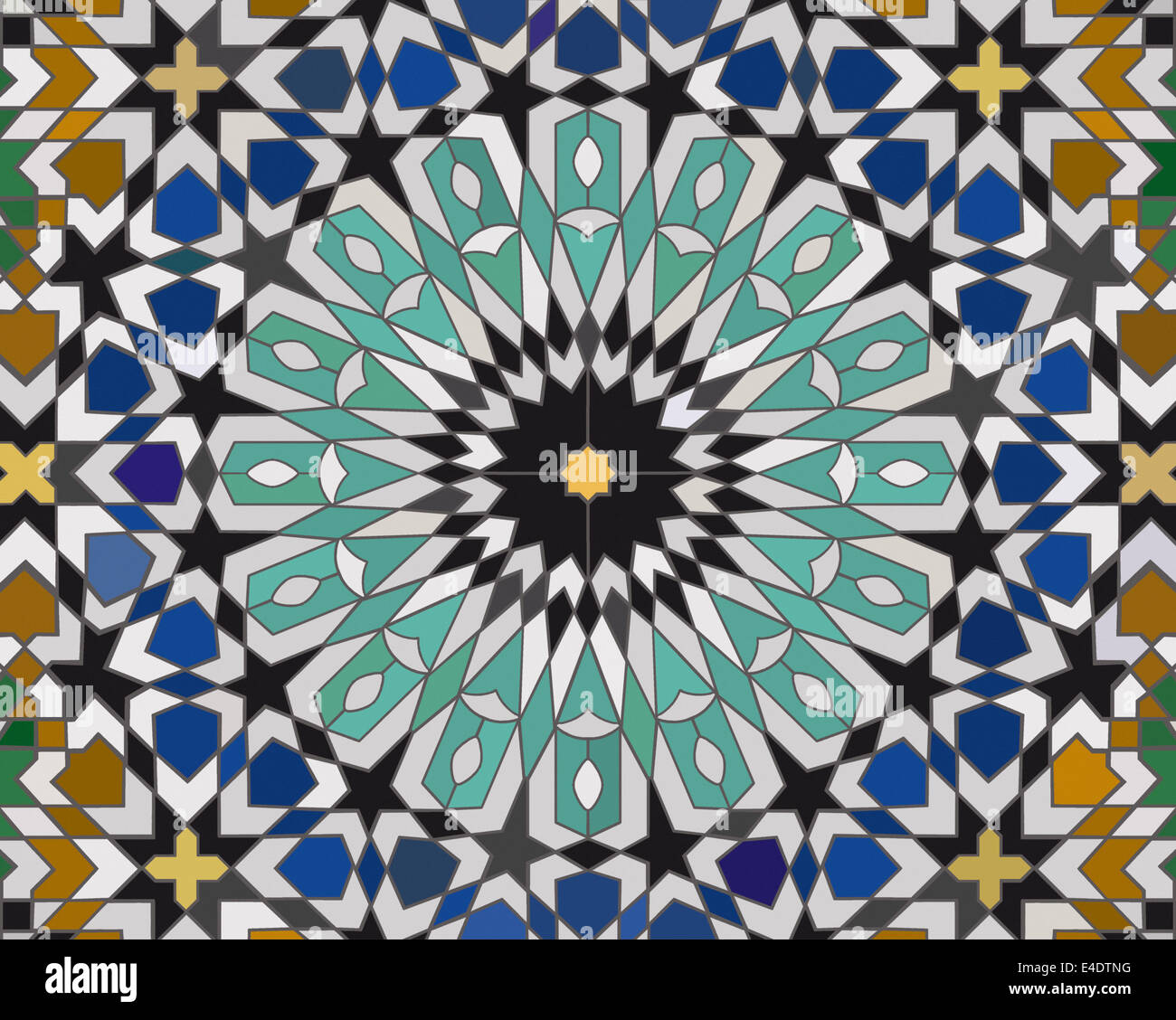 Moroccan Design Area Made Mosaic Tiles Based On A Moroccan Design With Complex