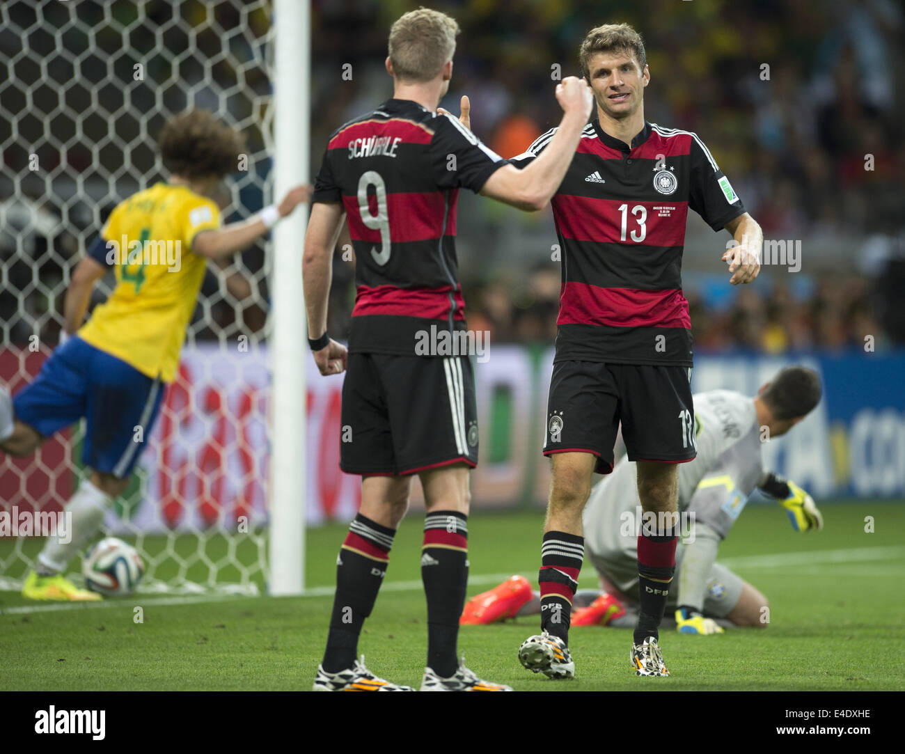 Belo Horizonte Brazil 8th July 2014 Schurrle and Thomas Muller