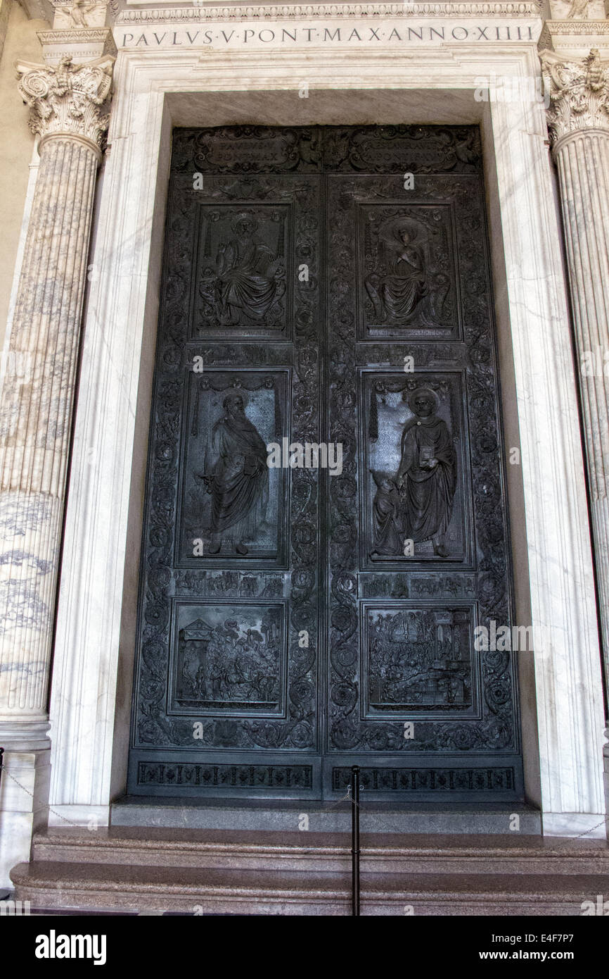 Bronze doors at the entrance of St Peter\u0027s Cathedral in the Vatican & Bronze doors at the entrance of St Peter\u0027s Cathedral in the ...