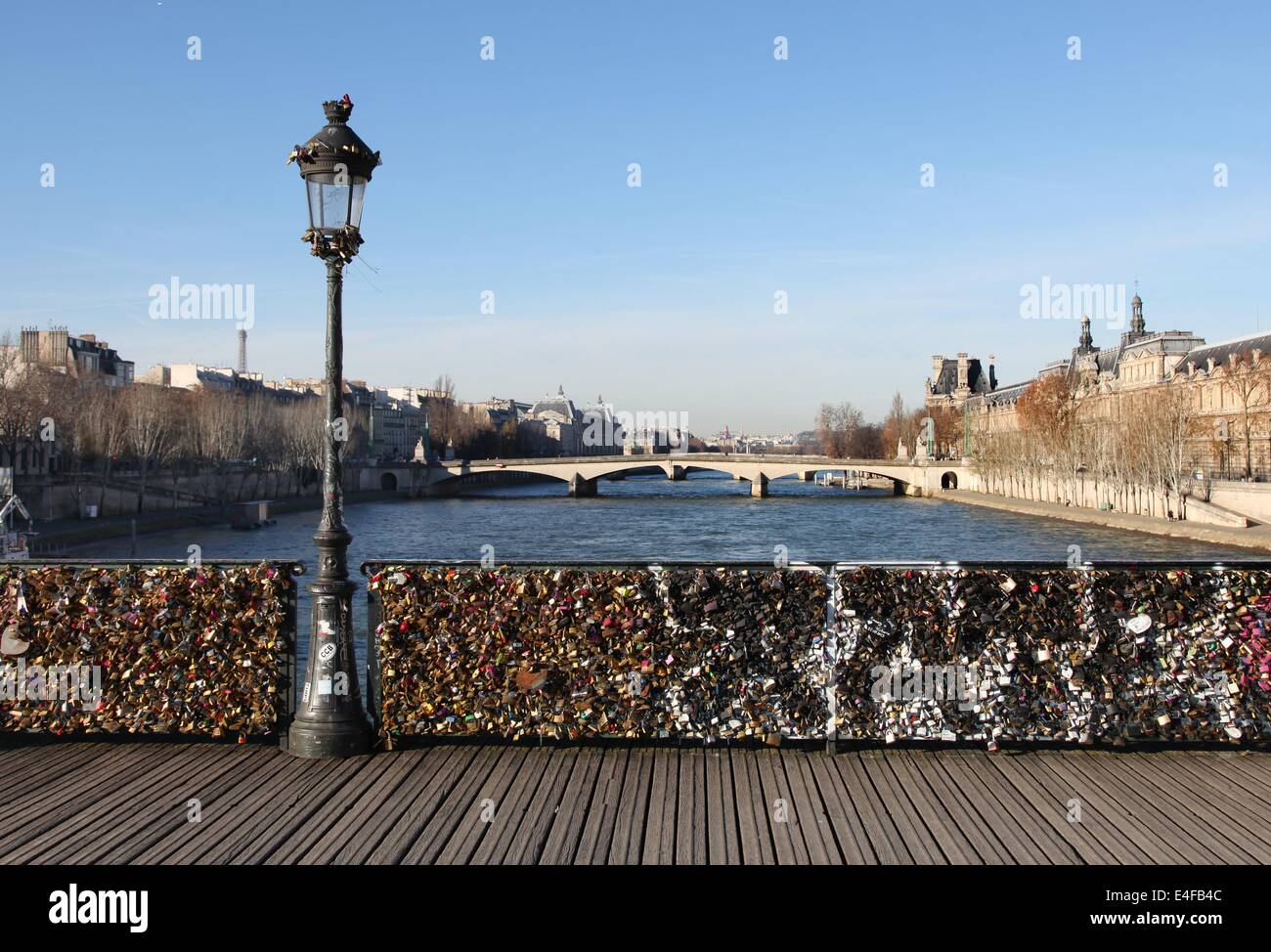 It 39 s a photo of the love locks on the bridge pont des for Locks on the bridge in paris