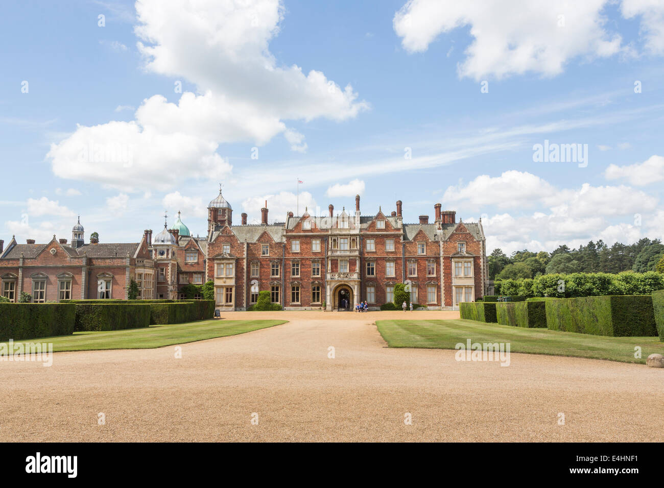 Sandringham House A Country The Queens Norfolk Retreat In Summer With