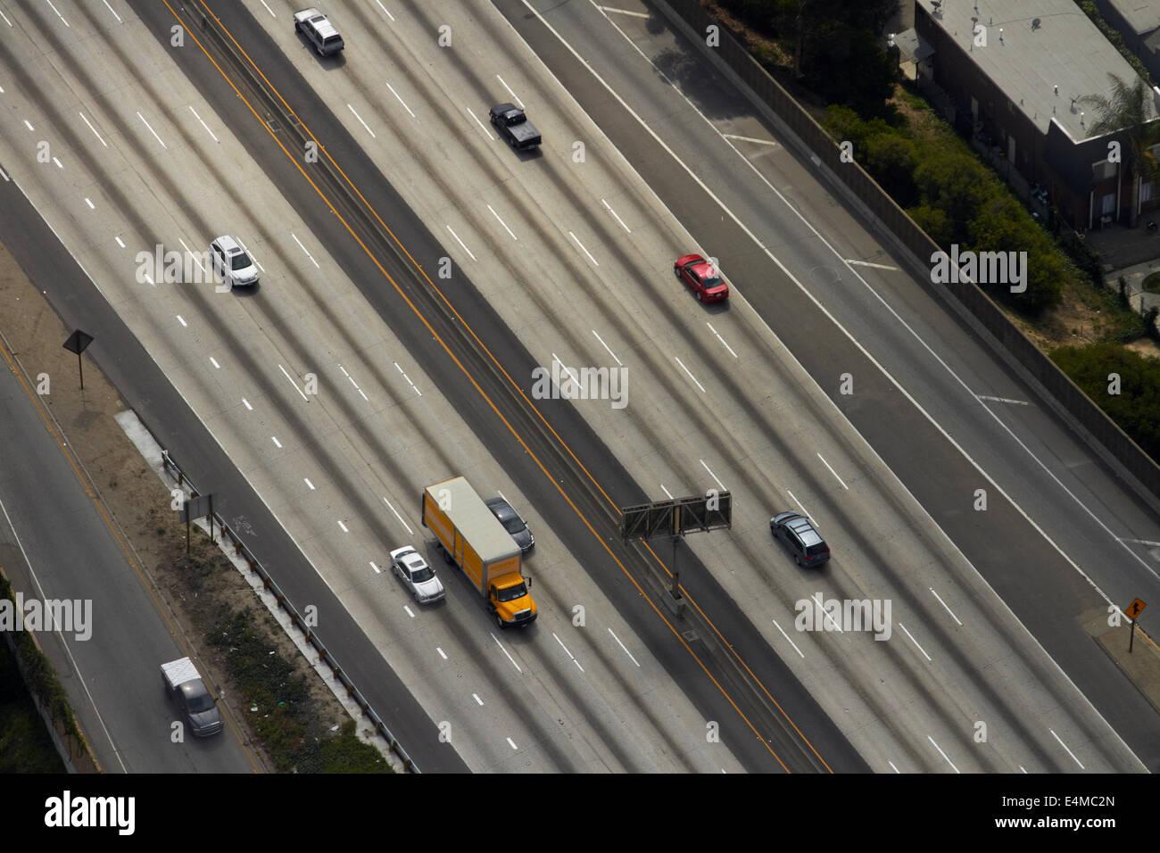 Santa monica freeeway interstate 10 i 10 los angeles santa monica freeeway interstate 10 i 10 los angeles california usa aerial sciox Choice Image