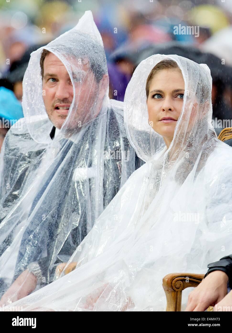 Borgholm, Sweden. 14th July, 2014. Princess Madeleine and Chris ...