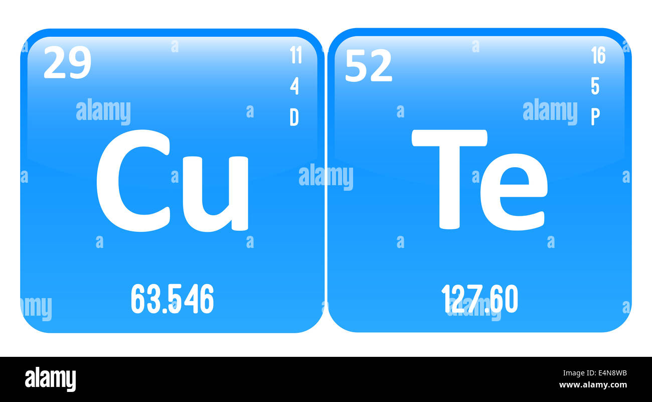 Cute word made of periodic table elements copper and tellurium cute word made of periodic table elements copper and tellurium gamestrikefo Choice Image