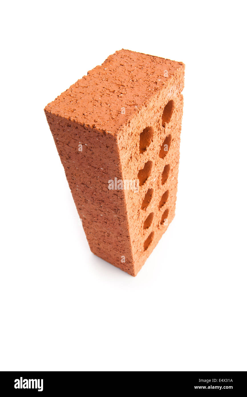Standing Red Brick With Ten Holes