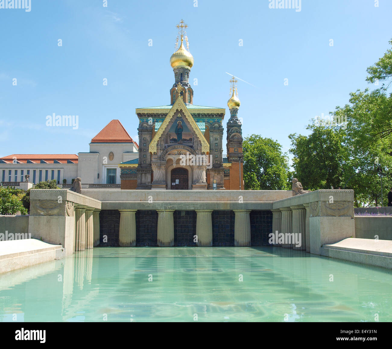 Darmstadt Swimming Pool chapel in darmstadt stock photo royalty free image