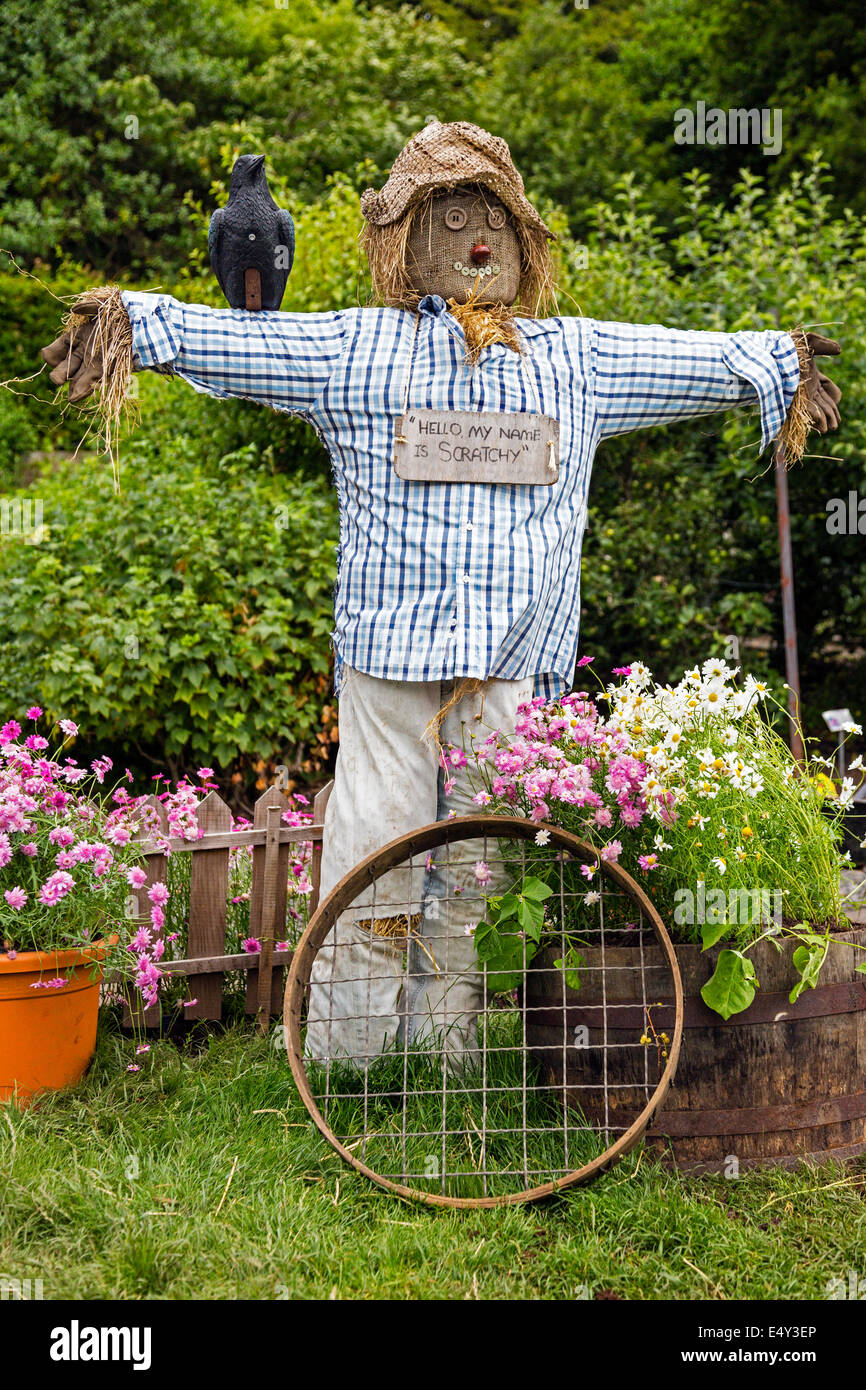 Homemade scarecrow in a vegetable garden glasgow for Garden design ideas glasgow