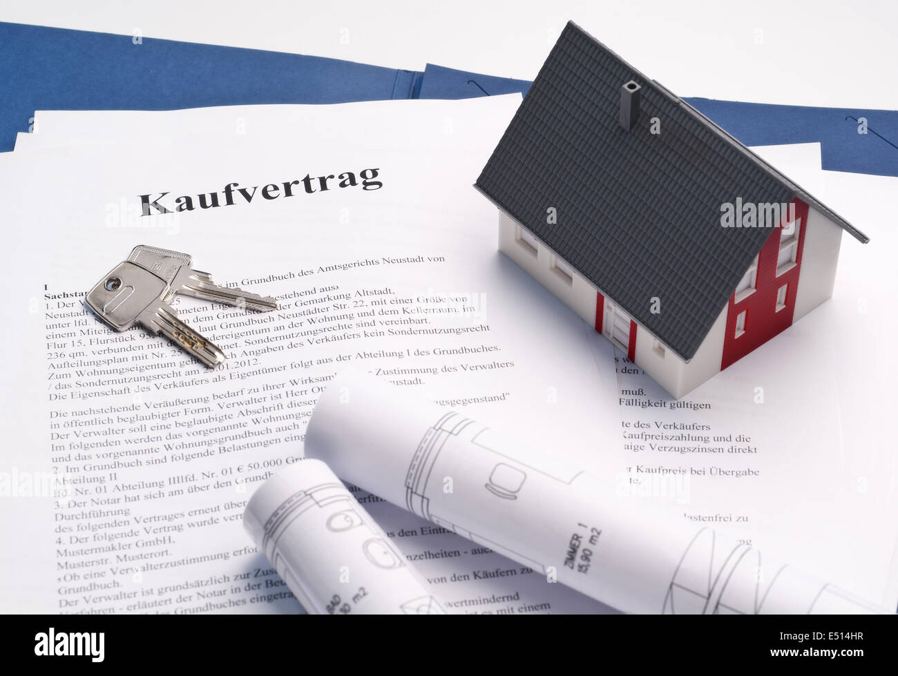 House With Sales Contract Stock Photo, Royalty Free Image ...