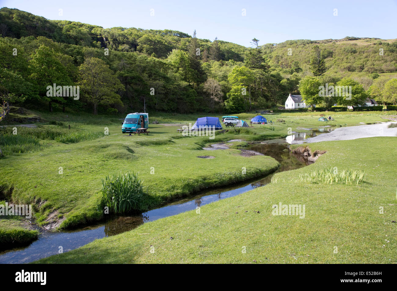 Motorhome and tents at Wild C&ing Site Calgary Bay Isle of Mull Scotland & Motorhome and tents at Wild Camping Site Calgary Bay Isle of Mull ...