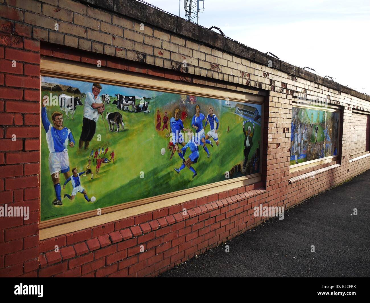 Wall murals at palmerston park dumfries home of queen of the wall murals at palmerston park dumfries home of queen of the south football club on terregles street dumfries amipublicfo Images