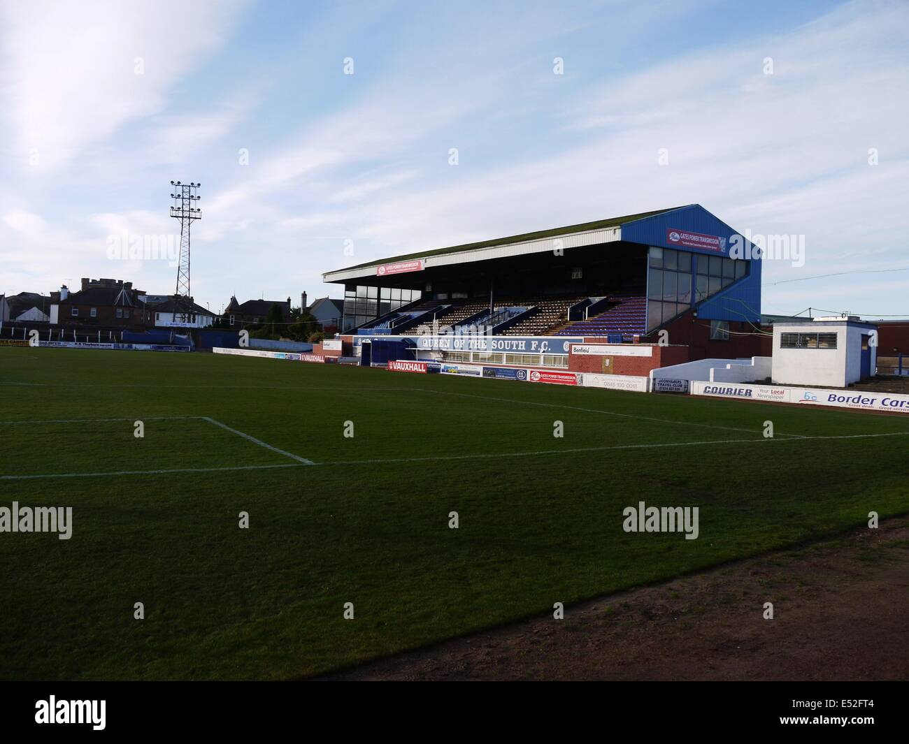 The Main Stand Palmerston Park Dumfries Home Ground Of Queen
