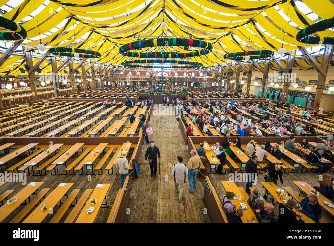 The Paulaner Beer Tent on the Theresienwiese Oktoberfest fair grounds. - Stock Image & Beer Tent Stock Photos u0026 Beer Tent Stock Images - Alamy