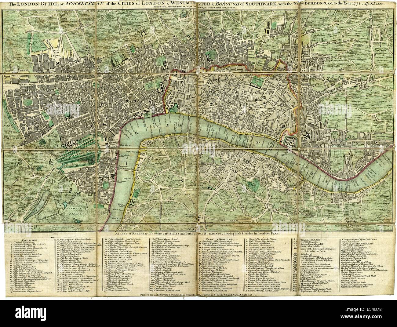 Pocket Plan Map Of The Cities Of London Westminster Borough Of - London map with cities