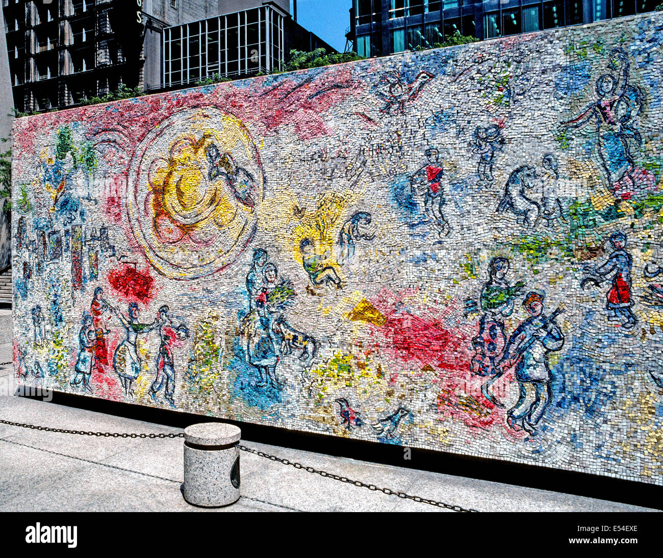 The four seasons mosaic by french artist marc chagall is for Chagall mural chicago