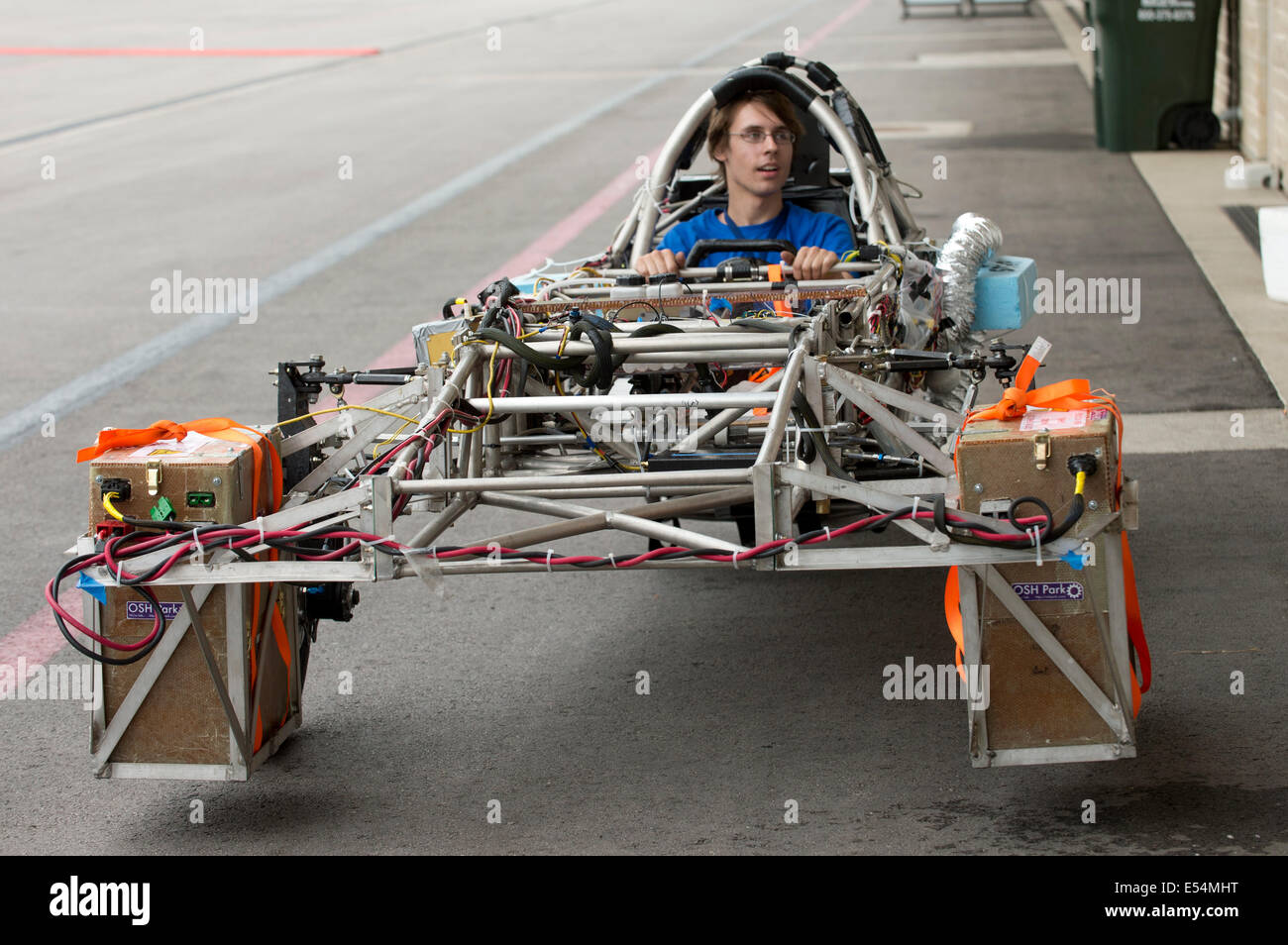 Design of car frame - A Driver Tests The University Of Kentucky S Solar Car Frame During Qualifying For 1 700 Mile