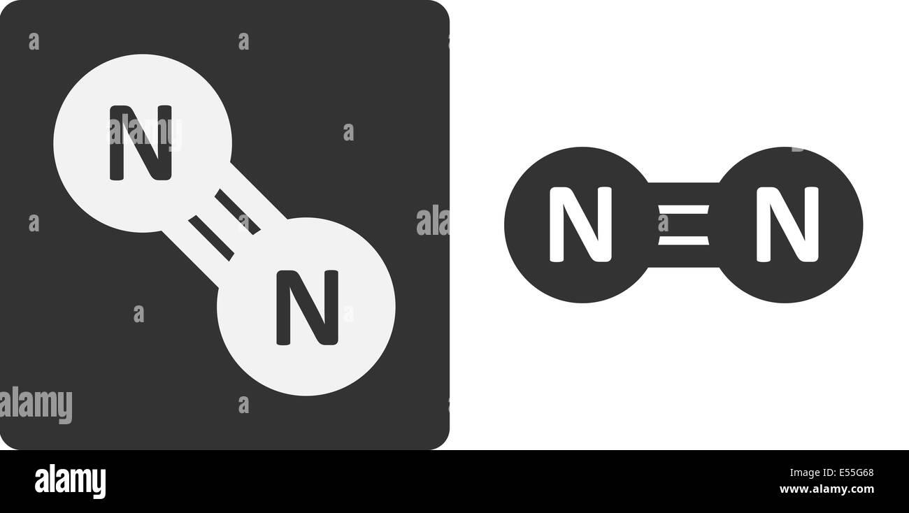 Nitrogen n2 gas molecule flat icon style atoms shown as nitrogen n2 gas molecule flat icon style atoms shown as circles buycottarizona