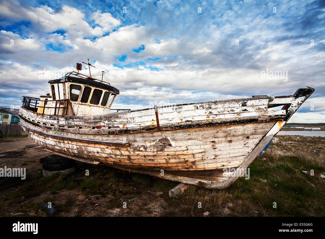 Old boat on abandoned junk yard stock photo royalty free for What to do with an old boat