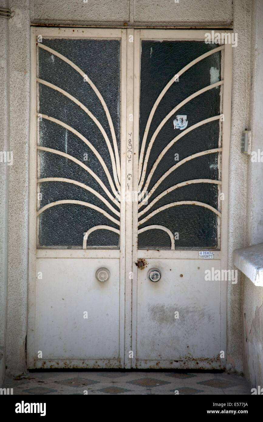 Metal Artwork on Doors on Heybeliada Turkey & Metal Artwork on Doors on Heybeliada Turkey Stock Photo Royalty ...