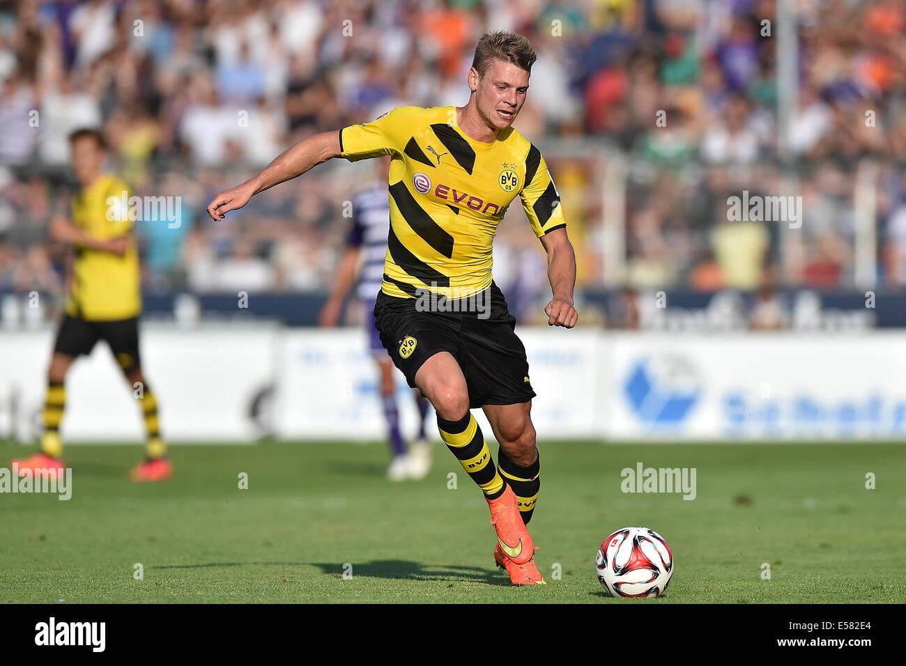 Dortmund s Lukasz Piszczek in action during the friendly match VfL