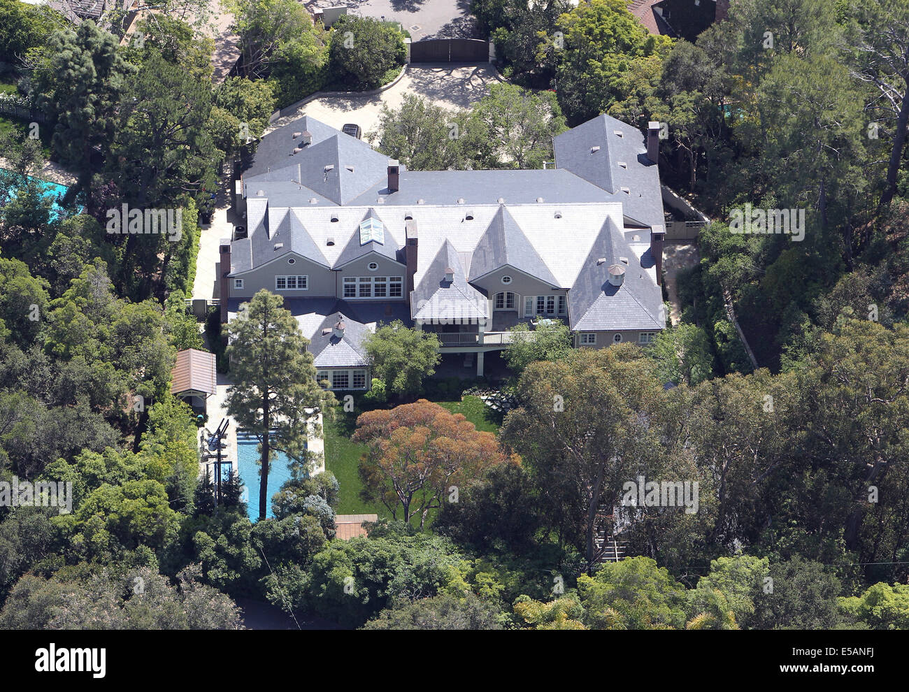 The Brentwood California Home Of Movie Star Harrison