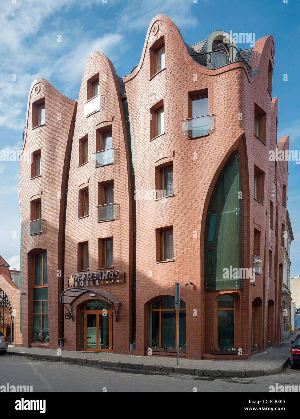 Marvelous Fahrenheit Hotel Unusual Brick Building Design In Gdansk Danzig Largest Home Design Picture Inspirations Pitcheantrous