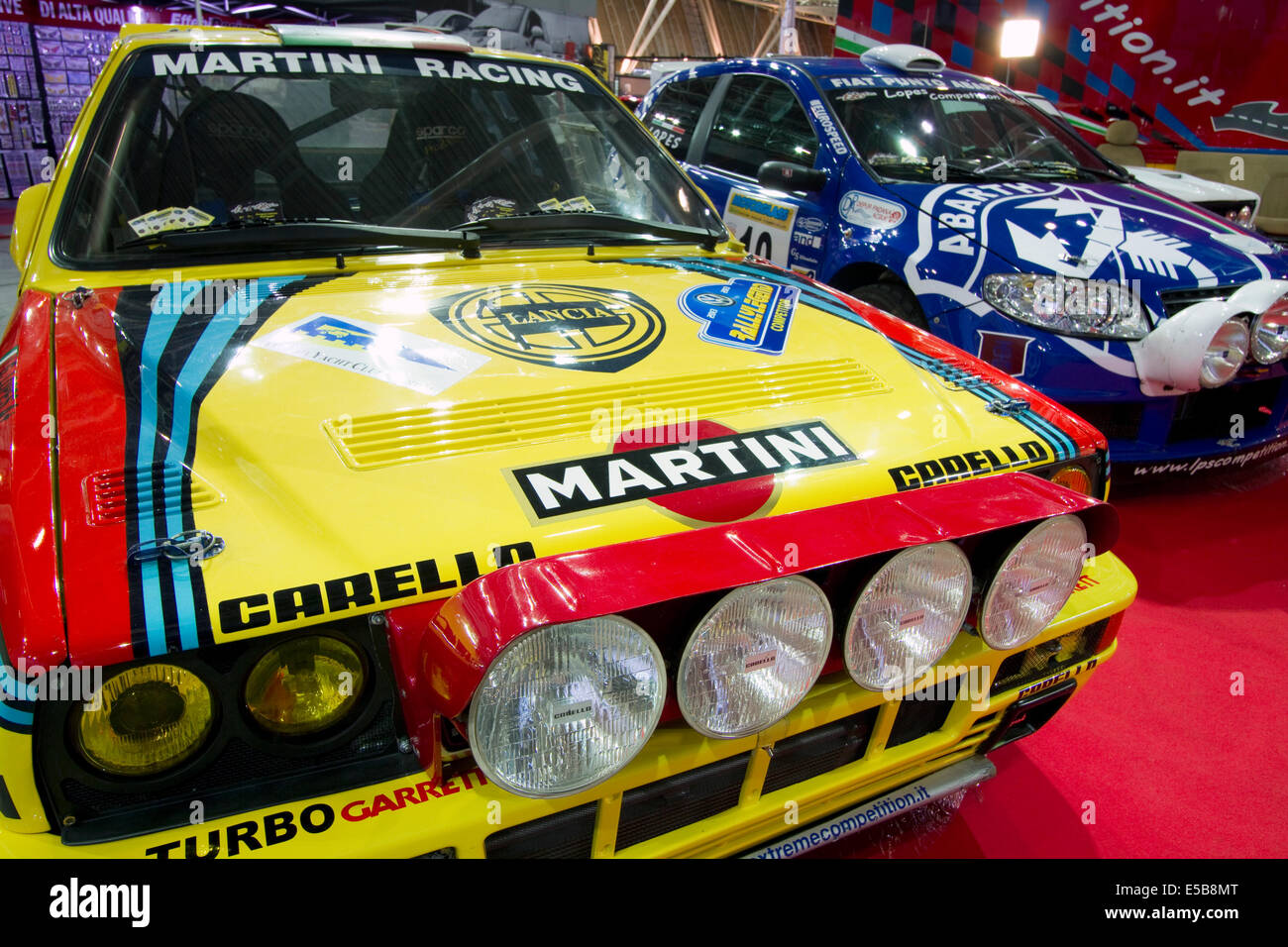 Old rally cars on display at historical cars show Stock Photo ...