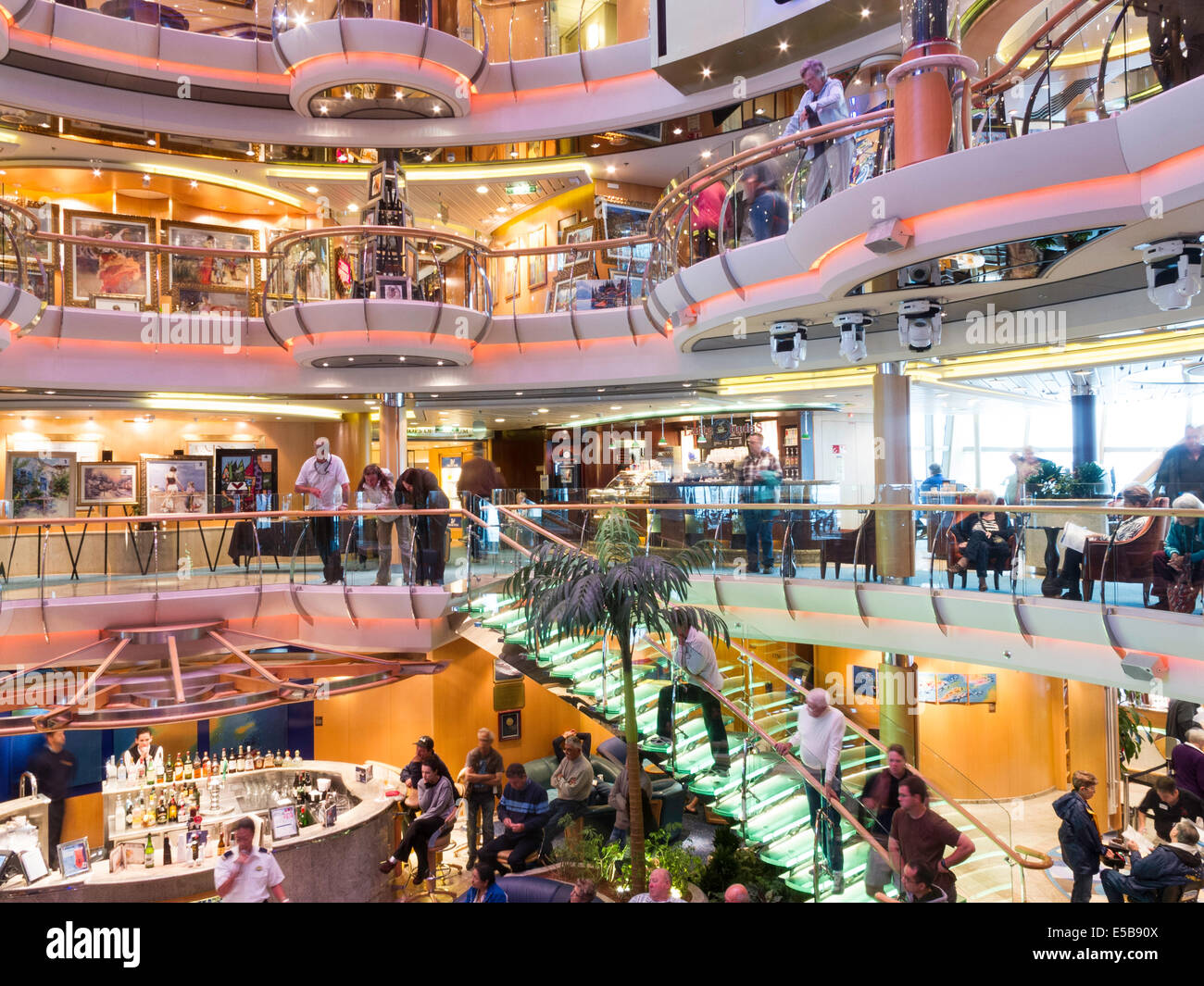 Central Atrium Deck Levels Radiance Of The Seas Cruise Ship Stock - Radiance of the seas