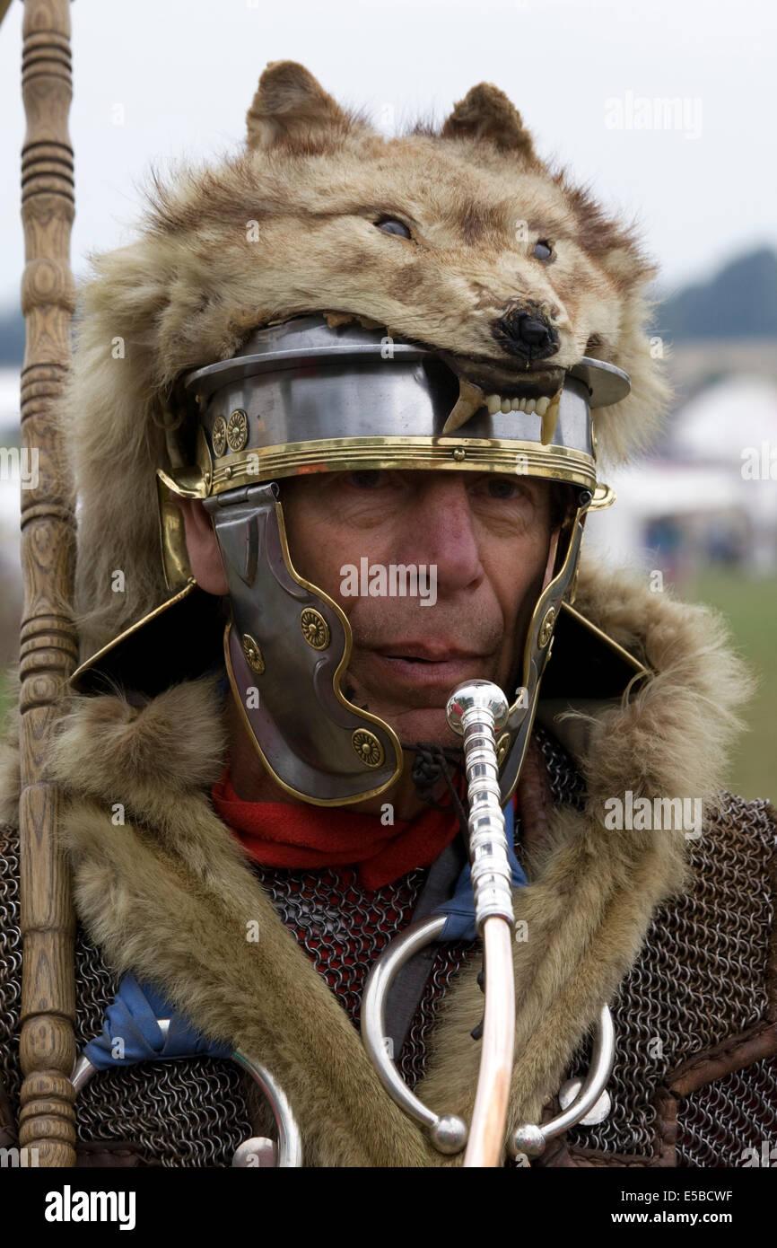 The Roman Legion Sentry With Wolf Headdress Heading Into