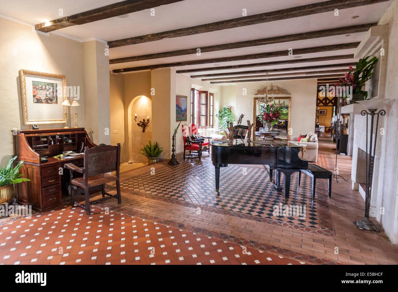 Living room of la casa de lourdes el valle de anton stock photo royalty free image 72169903 - Casa de lourdes ...