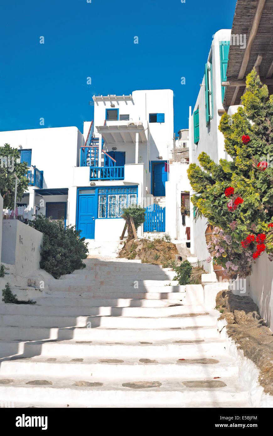 Traditional Greek House old traditional greek house on mykonos island, greece stock photo