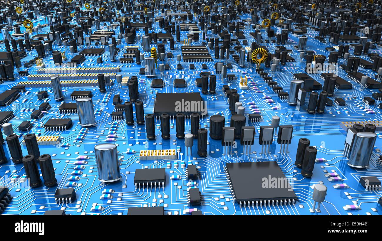 Motherboard Circuit Illustration