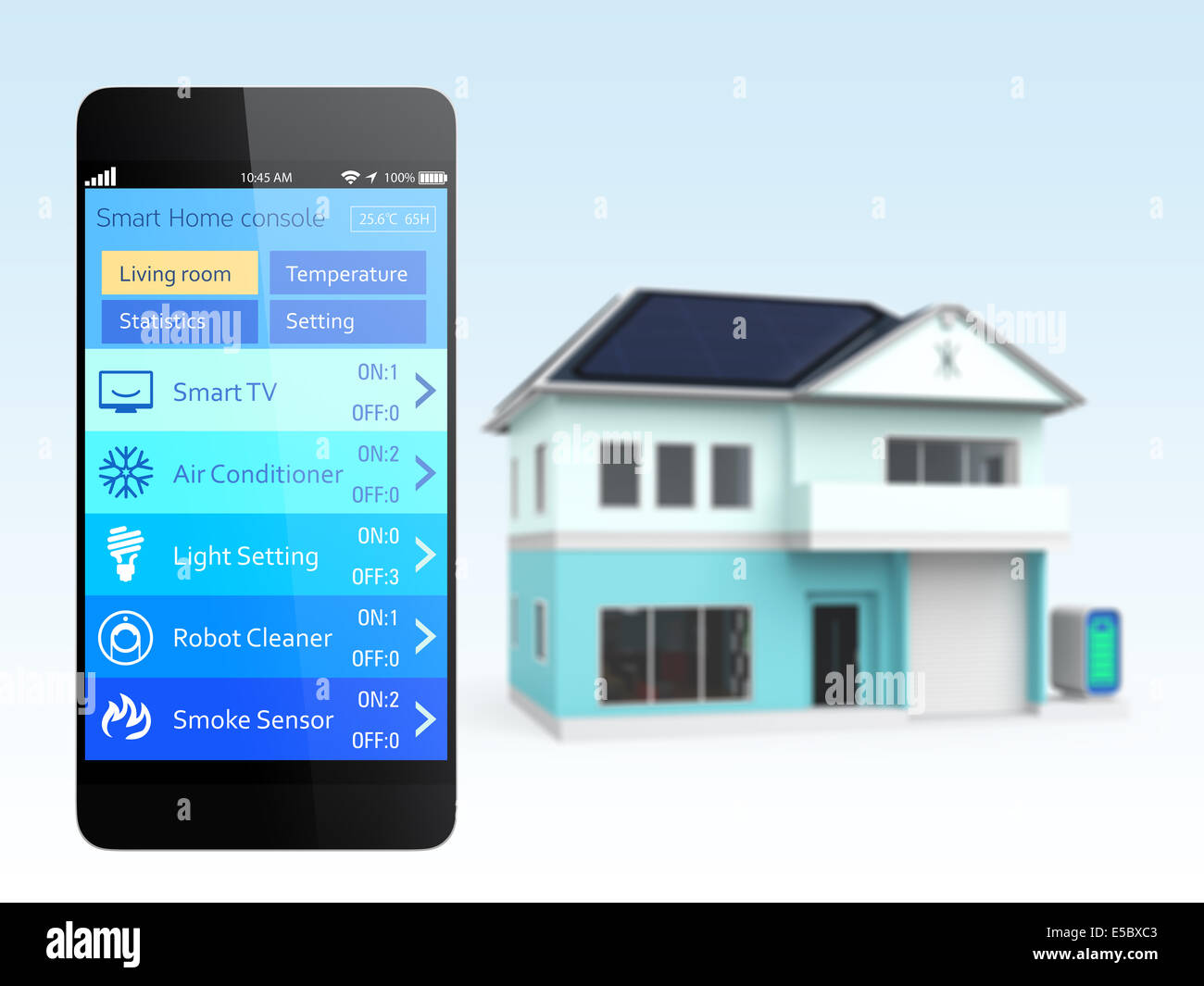 Smartphone Home Automation smartphone with home automation app stock photo, royalty free