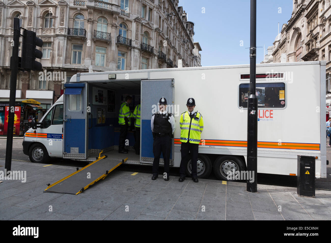 new car launches july 2014London UK 28 July 2014 A mobile policing unitpolice station in