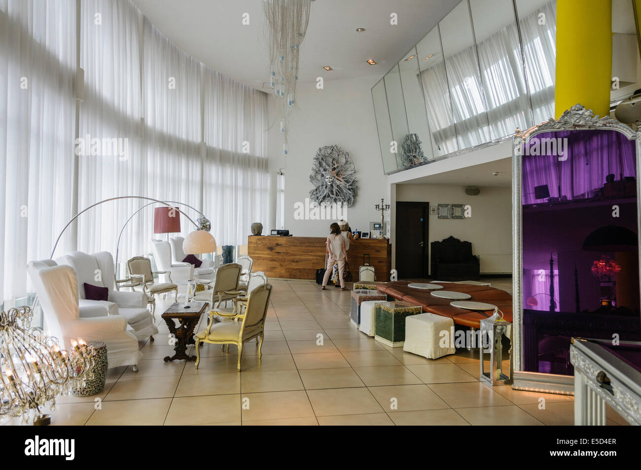 Lobby of the boutique hotel the beacon dublin stock for Boutique hotels dublin
