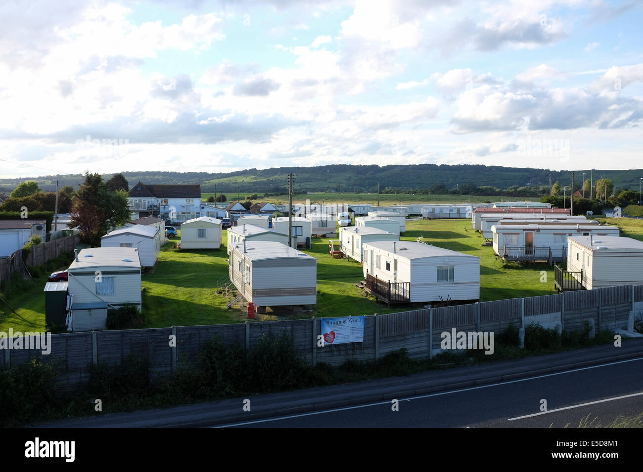 Mobile Homes At Sandy Bay Caravan Park In The England Coast UK