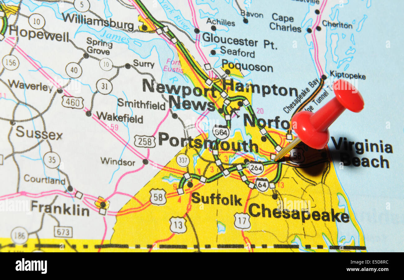 Portsmouth On US Map Stock Photo Royalty Free Image Alamy - Portsmouth map of us