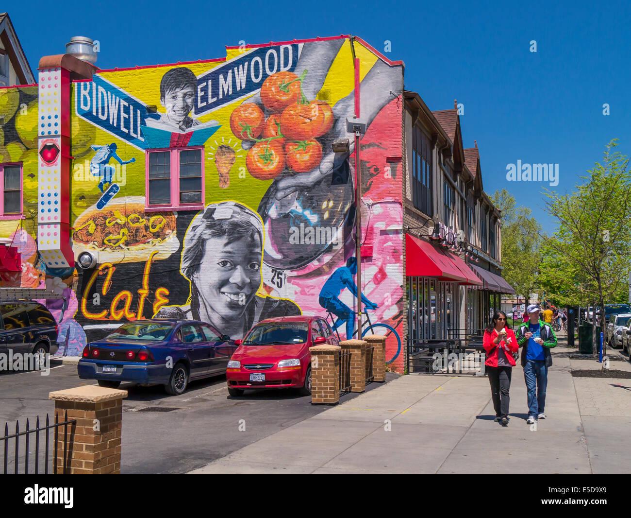 Colorful mural on side of building on elmwood avenue in for Bufflon revetement mural