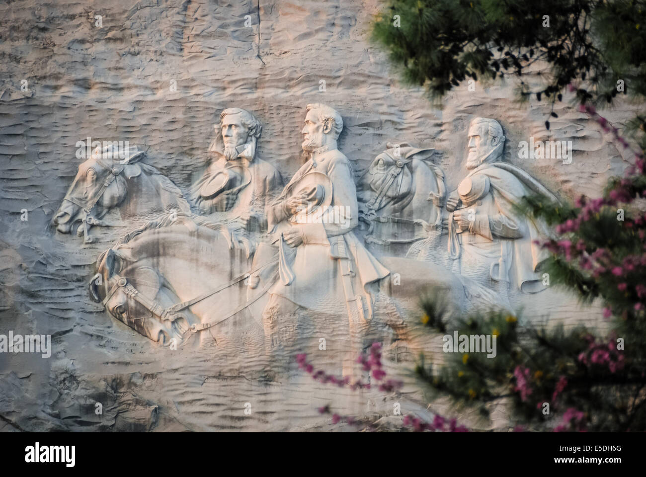 Memorial carving at stone mountain park in atlanta