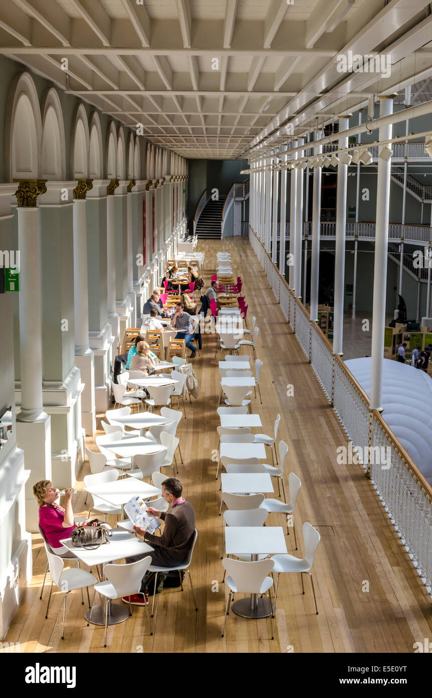the balcony cafe at the national museum of scotland