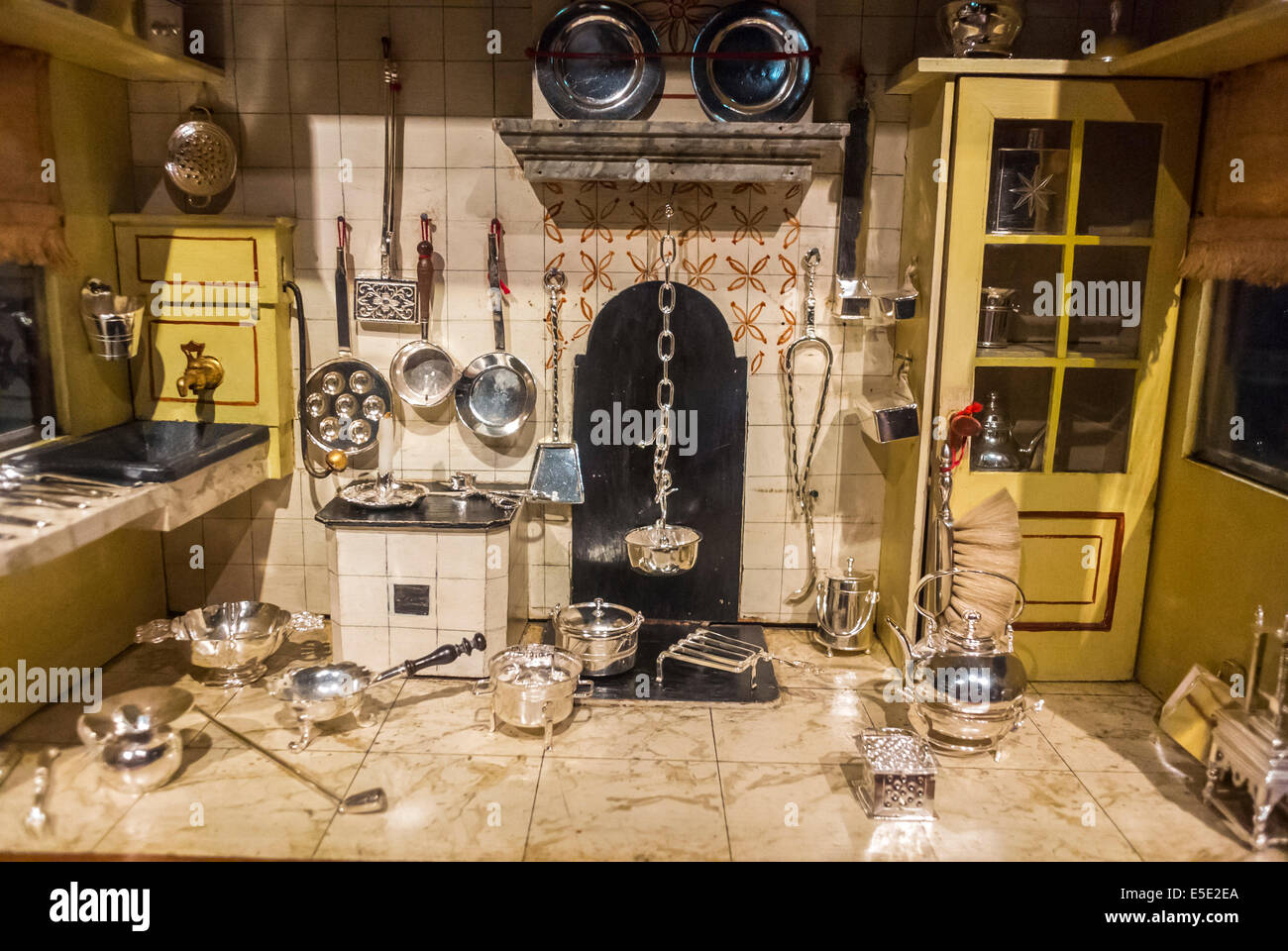 Antique Dolls House Stock Photos  Antique Dolls House Stock - Dolls house interior