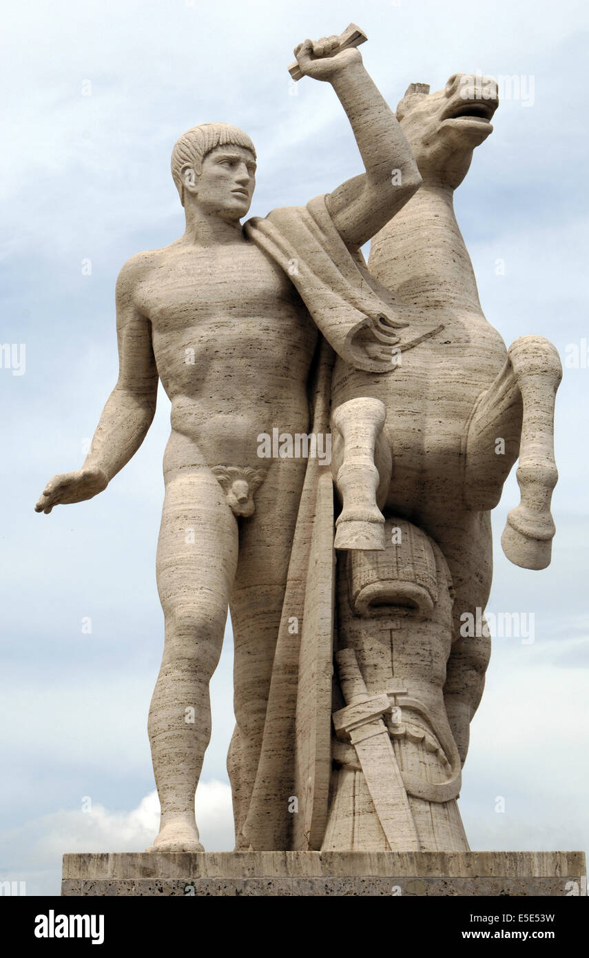 italy rome sculpture of one of the dioscuri castor and pollux by stock photo royalty free. Black Bedroom Furniture Sets. Home Design Ideas