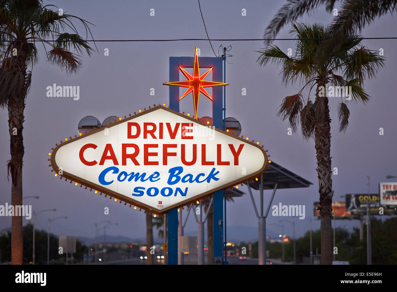 Stock footage welcome to fabulous las vegas sign with flashing lights - Back Of The Welcome To Fabulous Las Vegas Sign And Tourist Landmark Funded In May