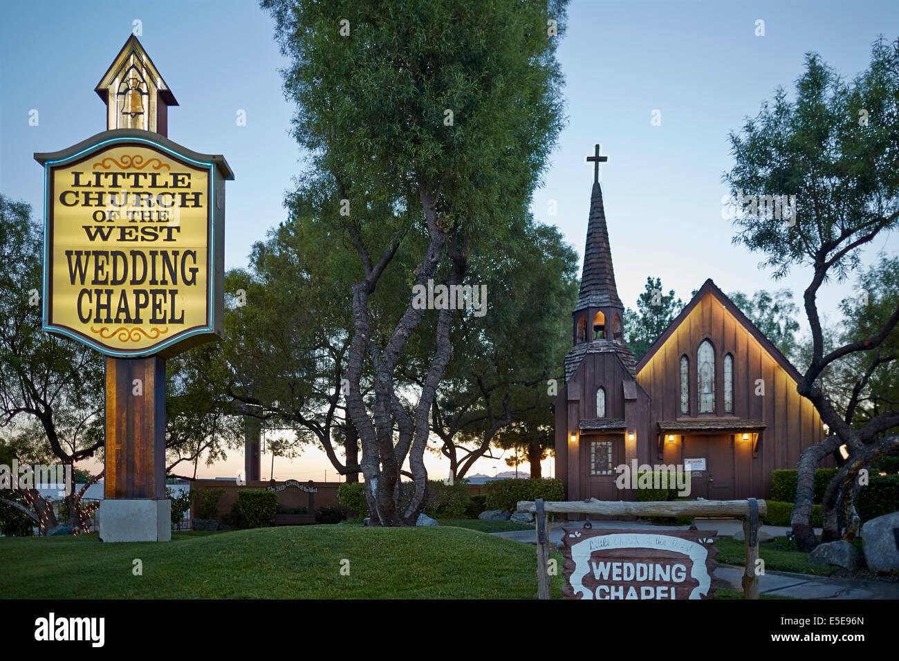 Las vegas nevada clark county usa sign of little church for Little las vegas