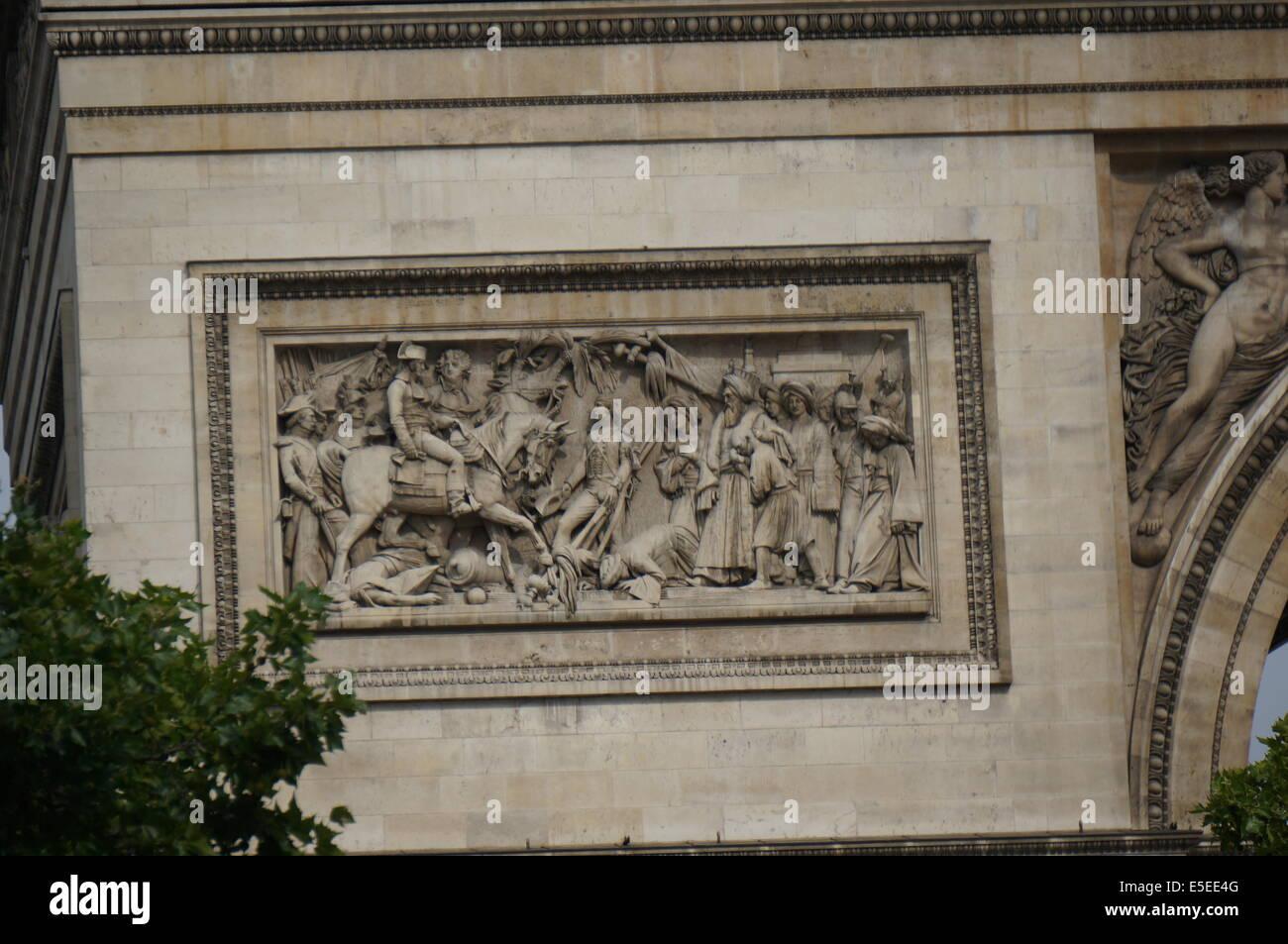 Classical Frieze Architecture Detail Of Arc De Triomphe Paris