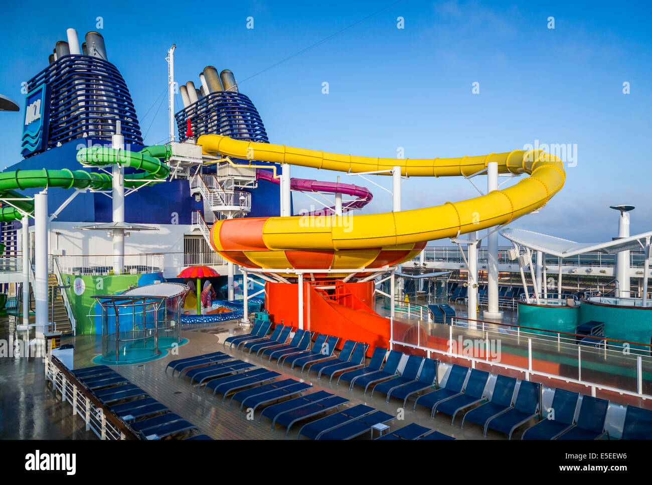 Water Slide On Cruise Ship Stock Photos Water Slide On Cruise - Roller coaster on a cruise ship
