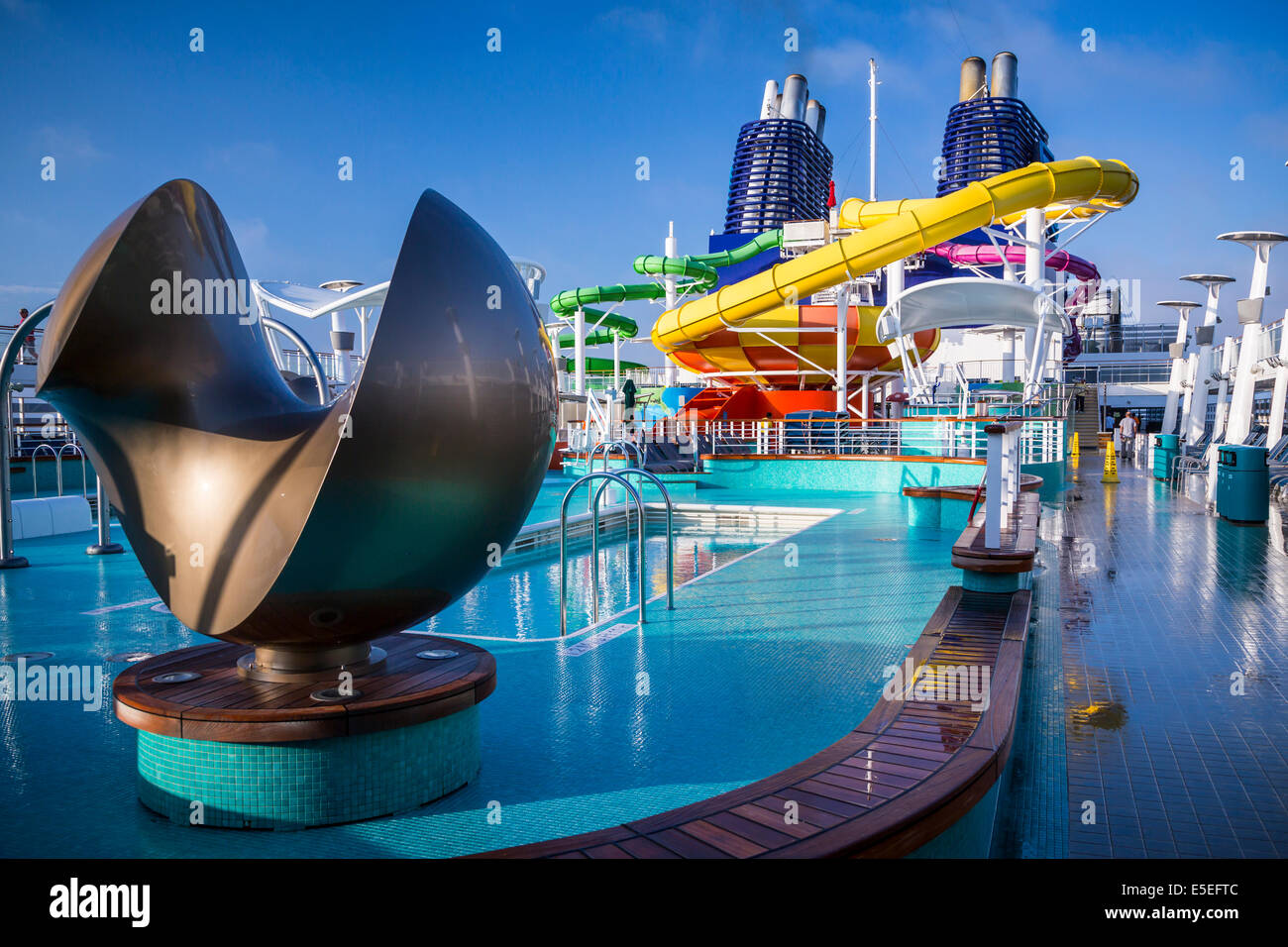 Deck With Pools And Water Slides On The Norwegian Epic Cruise - Norwegian epic cruise