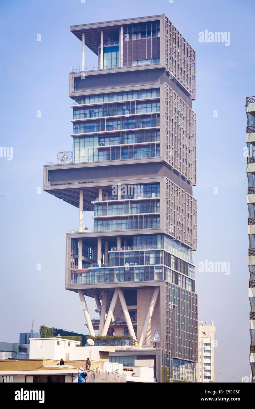 antilla house of mukesh ambani bombay mumbai maharashtra india mukesh ambani owned antilla antilia the world s most expensive private residence in mumbai